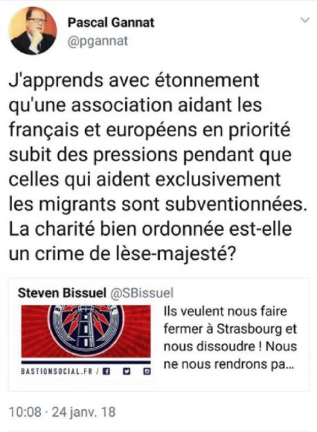 Pascal Gannat (FN), soutient le bastion social.