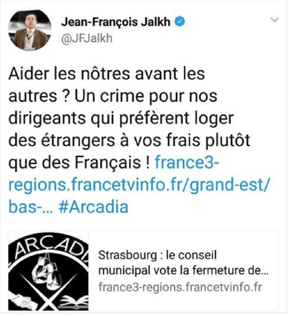Jean-François Jalkh soutien lui aussi le Bastion social.