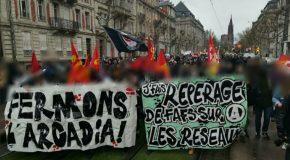 600 personnes contre l'Arcadia et le Bastion Social à Strasbourg