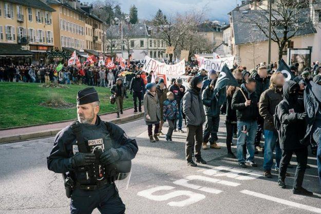 Chambéry manif contre le Bastion Social le 03 02 2018