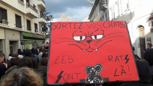 Chambéry manif contre le bastion social 03 02 2018