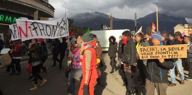manif à Chambéry contre le Bastion Social le 03 02 2018