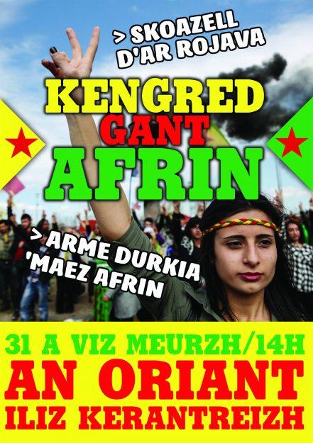 Lorient : Solidarité Afrin! Soutien au Rojava @ Église de Kerentrech | Lorient | Bretagne | France