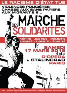 Paris : Marche des solidarités «Le racisme d'État tue» @ Opéra | Paris | Île-de-France | France