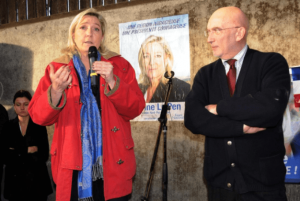 Paul Henry Hansen-Catta avec Marine Le Pen en mai 2017