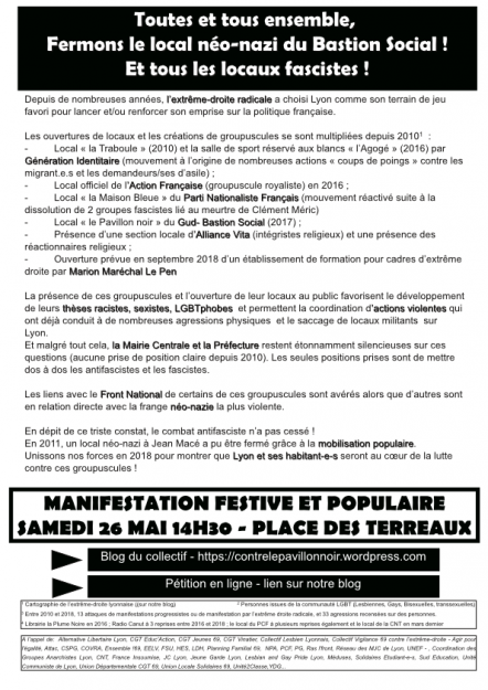Lyon : mobilisation contre le Pavillon noir @ Lyon | Auvergne-Rhône-Alpes | France