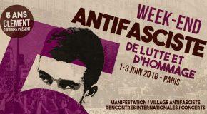 Programme détaillé du week-end en hommage à Clément Méric