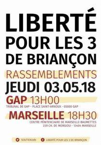 Gap : rassemblement en soutien aux 3 de Briançon @ Gap | Provence-Alpes-Côte d'Azur | France