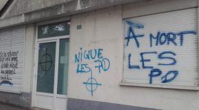 Angers : tags homophobes contre le centre LGBT Quazar et mobilisation contre l'homophobie