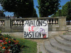 rassemblement contre l'université d'été du Bastion Social à Avallon le 30 juin 2018