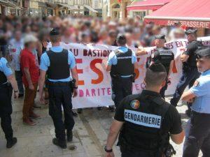 manifestation contre le Bastion Social à Avallon le 30 juin 2018
