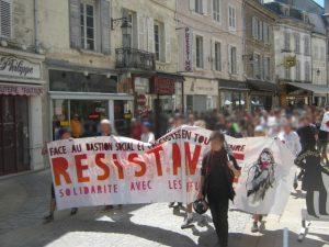Manifestation contre l'université du Bastion Social à Avallon le 30 juin 2018