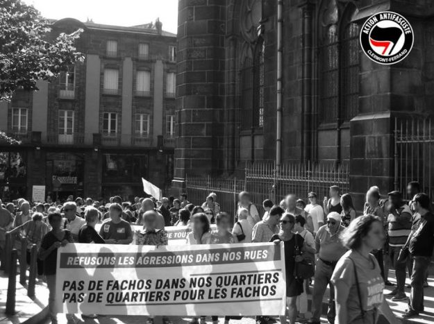 Manifestation contre l'ouverture de l'Oppidum à Clermont-Ferrand