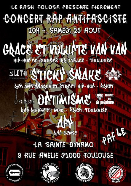 Toulouse : concert rap antifasciste @ La Sainte Dynamo | Toulouse | Occitanie | France