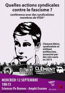 Rennes : Quelles actions syndicales contre le fascisme ? @ amphi Érasme | Rennes | Bretagne | France