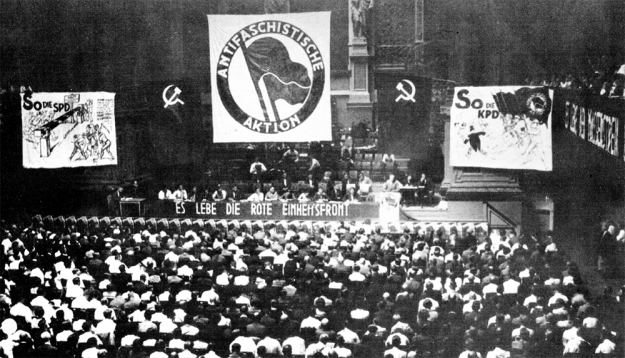 Congrès d'Union du Reich de l'Antifascistische Action le 10 juillet 1932 à Berlin.