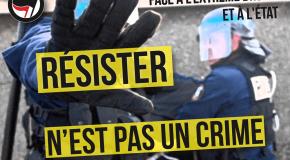 """Un gilet jaune condamné à de la prison ferme pour des """"violences"""" contre des policiers, solidaire des 7 de Briançon"""