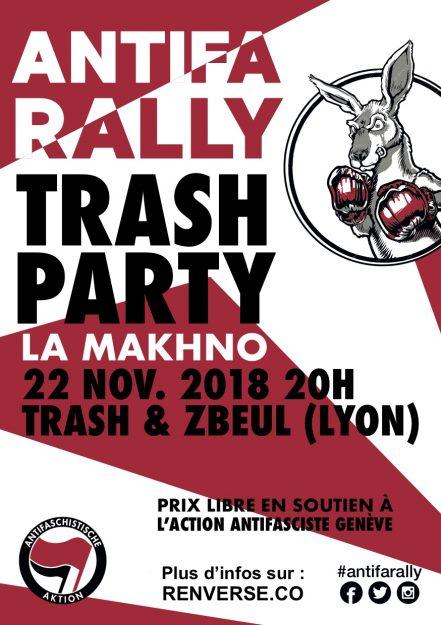 Genève : Antifa Rally Trash Party @ La Makhno | Genève | Genève | Suisse
