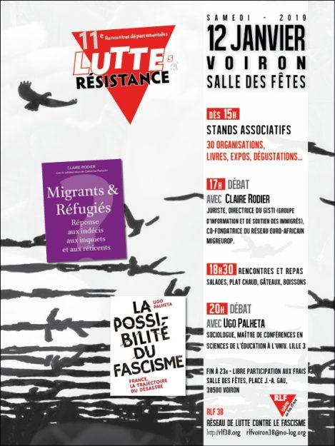 Isère : 11èmes Rencontres départementales des Luttes et Résistances @ Salle des Fêtes de Voiron