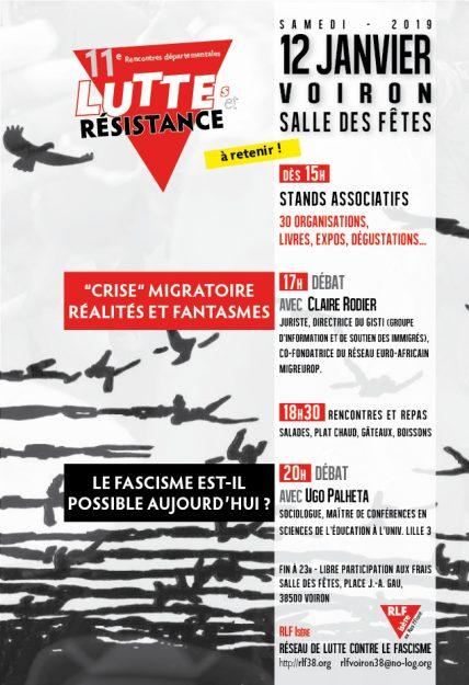 Voiron : 11e rencontre de luttes et de résistance @ Salle des Fêtes de Voiron