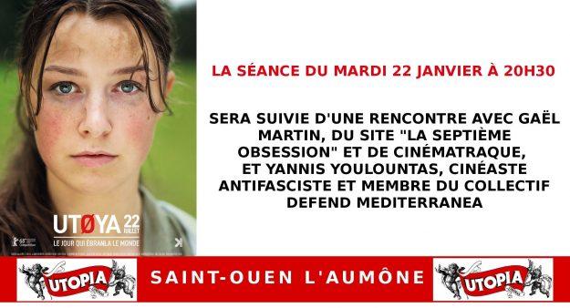 """Saint-Ouen L'Aumône : projection-débat autour du film """"Utøya"""" @ Cinéma Utopia 95"""