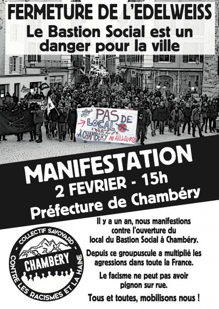 Chambéry : mobilisation contre le Bastion social @ Préfecture de Chambéry