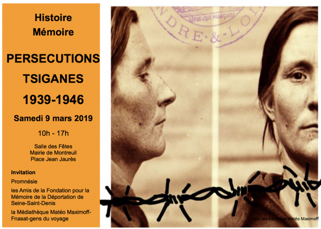 "Montreuil (93) : ""PERSECUTIONS TSIGANES 1939-1946"" @ Salle des fêtes"