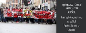 Lille : Rassemblement face à la soirée raciste organisé par la citadelle @ Opéra