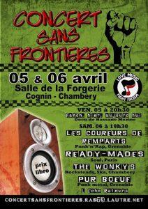 Chambéry : Concert Sans Frontières, 6ème édition @ Salle La Forgerie
