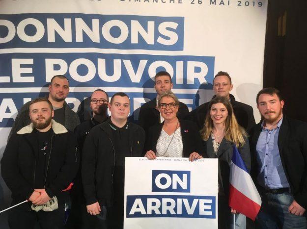 Identitaires Picard et Rassemblement National de la Somme cote à cote