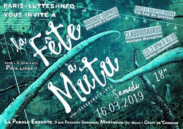 Paris : soirée de soutien au réseau Mutu @ La Parole errante