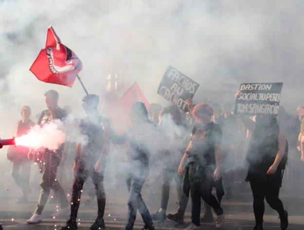 Marseille manifestation contre le Bastion Social le 23 mars 2019