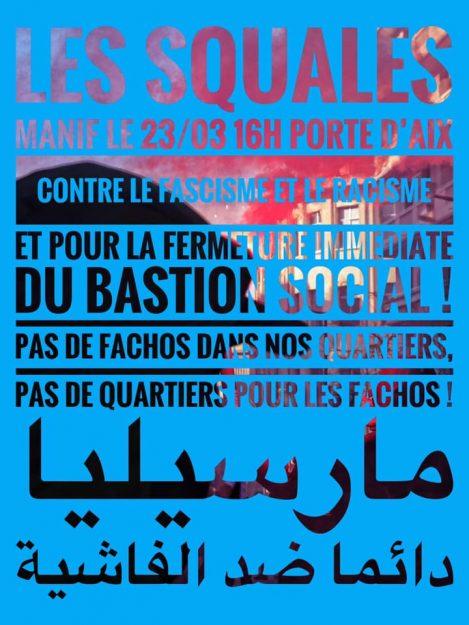 Marseille : manifestation contre le Bastion social @ Départ Porte d'Aix