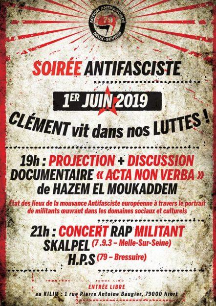 Niort (79) : projection-concert en hommage à Clément @ Le Kilim