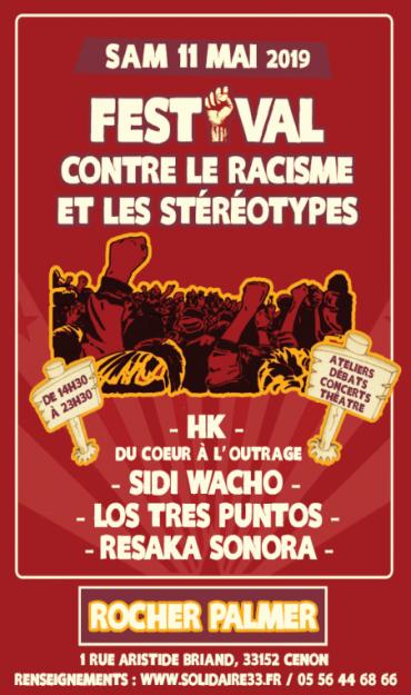 Cenon (Gironde) : Festival contre le racisme et les stéréotypes @ Rocher de Palmer