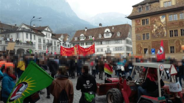 manifestation antifasciste à Schwytz le 13 avril 2019