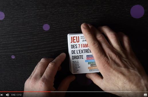 Unboxing de notre jeu des 7 familles de l'extrême droite (vidéo)