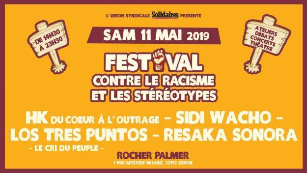 Bordeaux (Cenon) : Festival contre le racisme et les stéréotypes @ Rocher de Palmer