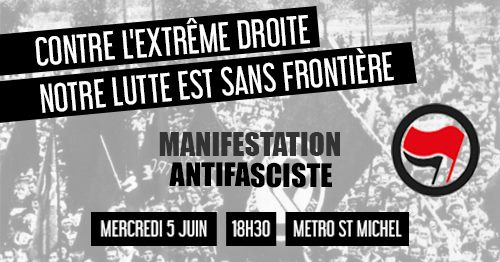 Toulouse : manifestation antifasciste @ Métro Saint Michel Marcel Langer