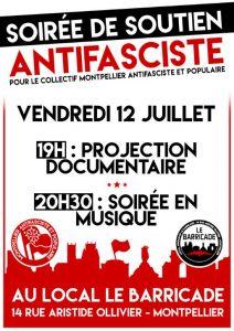 Montpellier : Soirée de soutien antifasciste @ Le Barricade