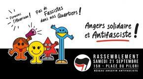 Angers : Communiqué du RAAF – Rassemblement antifasciste du 21/09/2019