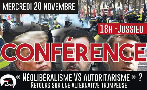 "Paris : ""Néolibéralisme VS Autoritarisme : Une alternative trompeuse"" @ Fac de Jussieu"