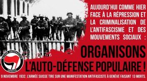 Genève : 9 novembre 1932 – Rassemblement et commémoration