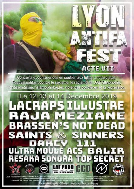 Lyon Antifa Fest Acte VII @ CCO