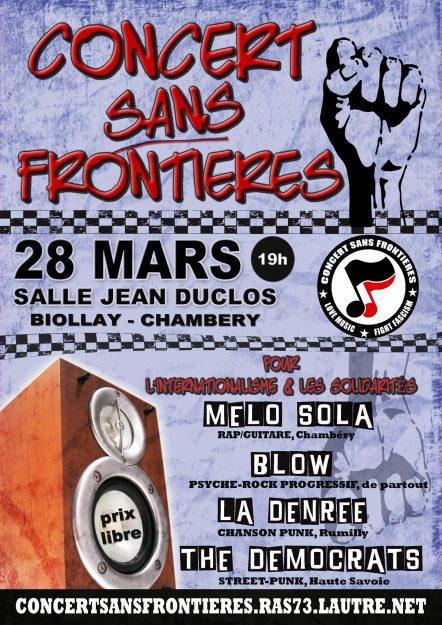 Chambéry : Concert sans frontières #7 @ SALLE JEAN DUCLOS