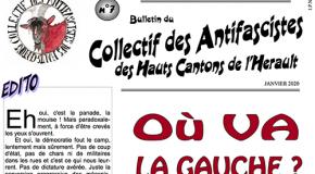 Hérault : 7e bulletin du collectif des Antifascistes des Hauts-Cantons