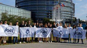 Les organisations de jeunesse du FN et de l'AfD paradent à Strasbourg