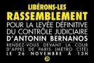 Paris : rassemblement pour la levée du contrôle judiciaire d'Antonin